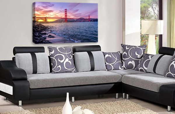 Golden Gate Bridge Wall Art San Francisco City USA Canvas Picture